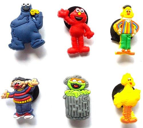 Sesame Street Shoe Charms 6 pcs Set - Jibbitz