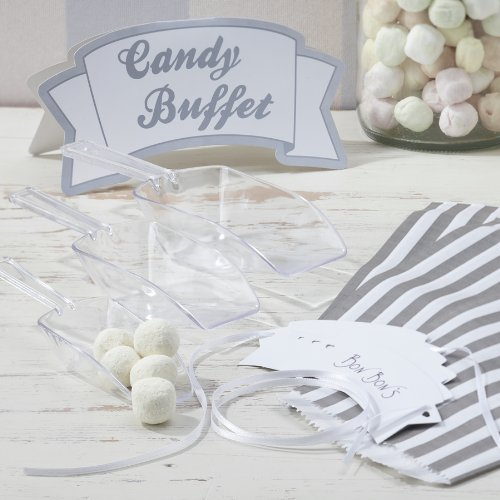 Ginger Ray Candy Bar Kit for Weddings or Parties - 3 X Scoops 25 X Candy Bags 1 X Sign & 3 X Tags