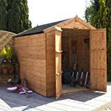 8ft x 6ft Shiplap Apex Wooden Storage Shed - Brand New 8x6 Tongue and Groove Sheds