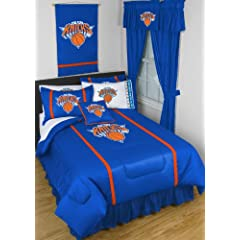 New York Knicks 5 Pc TWIN Comforter Set (Comforter, 1 Flat Sheet, 1 Fitted Sheet, 1... by Sports Coverage