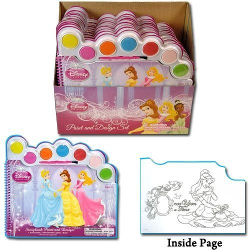 Disney Princess Water Paint Set - Story Book Paint and Design