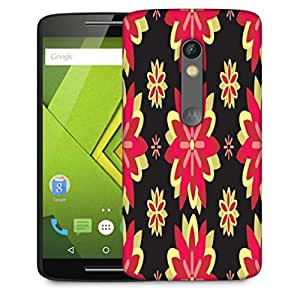 Snoogg Red Flowers Designer Protective Phone Back Case Cover For Motorola Moto X Play
