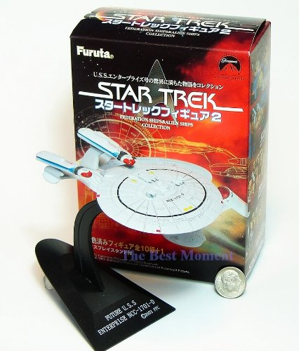 Star Trek 2 #15 Furuta Volume Star Trek Future Enterprise NCC-1701-D with Original Color Box. Federation Ships & Alien Ships (Original from TheBestMoment @ Amazon)