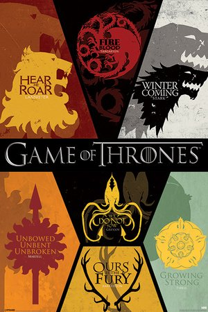 Poster Game of Thrones - Sigils - manifesto risparmio, cartellone XXL