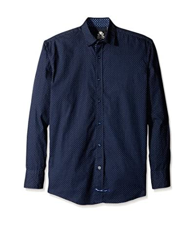 English Laundry Men's Dot Sport Shirt