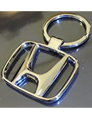 Chronowares Honda Chrome Plated Steel Imported Key Chain Key Ring Car Logo For City Brio Jazz Activa