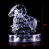 Coolplay CP9051A DIY 3D Crystal Puzzle with Flash Light Constellation Series - Aries