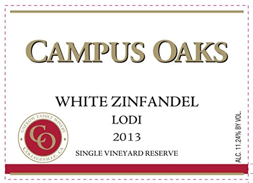 2013 Gnekow Family Winery Campus Oaks Lodi White Zinfandel 750 Ml