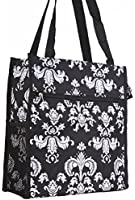 World Traveler Damask Print Collection Travel Tote Bag 12-inch