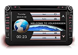 See Pumpkin 8 Inch For VW Series Double Din In Dash HD Touch Screen Car DVD Player Bluetooth/USB/SD/FM/AM Radio Stereo GPS Navigation System Details
