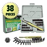 38 Piece Deluxe Number and Letter Metal Stamping Set