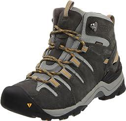KEEN Women\'s Gypsum Mid Hiking Boot,Gargoyle/Tawny Olive,5 M US