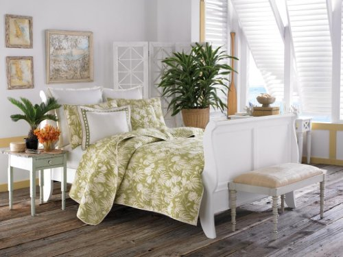 Tommy Bahama Plantation Floral Quilt Set, Lime
