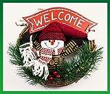 【ELEEJE】 クリスマスには やっぱり リース 可愛い 雪だるまの サンタが お出迎え(雪だるまB)