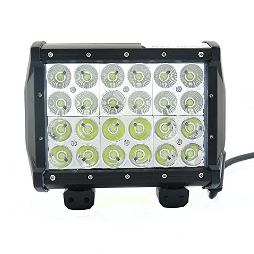 7Inch 72W 4 Row Cree Led Work Bar 6480Lm Spot Flood Light 4X4 Offroad Lamp For Jeep Cabin/Boat/Suv/Truck/Car/Atv/Vehicles/Automative/Jeep/Marine Off-Road Bulb Lamp Light Fog Lighting Exterior