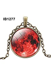Vintage Unisex Amazing Universe Galaxy Glass Dome Cabochons Pendant Chain Nebula Necklace