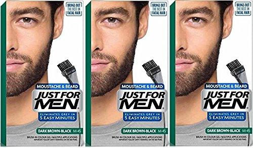 3-x-just-for-men-moustache-and-beard-facial-hair-gel-colour-m45-dark-brown-black