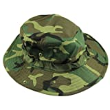 Voberry Fishing Hiking Snap Brim Military Woodland Camo Hat Bucket Sun Cap
