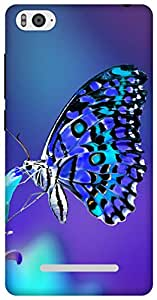 The Racoon lovely butterfly night hard plastic printed back Case for Xiaomi Mi4i