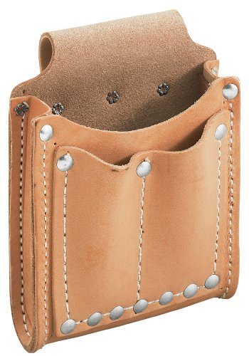 Klein Tools 5145 Leather 3-Pocket Utility Pouch