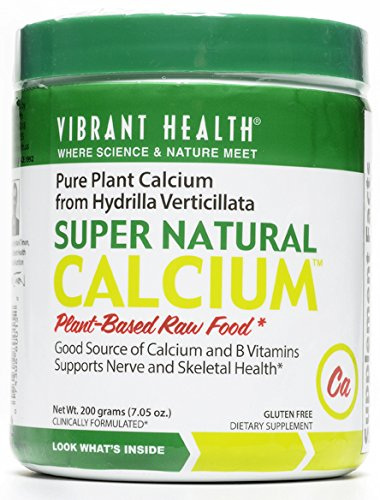 Vibrant Health Super Natural Calcium Powder (200 Grams / 7.05 Oz)