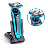 Electric Shaver,YUDEG Jinding Rotary Shaver with 5 Floating Cutting Heads Waterproof Rotary Shaving Razor for Men