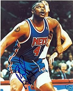 Rick Mahorn New Jersey Nets Signed 8x10 Photo W COA by Hollywood Collectibles