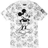 Neff x Disney Wallpaper Mickey Mouse Tee (Grey Floral) Men's S/S T-Shirt