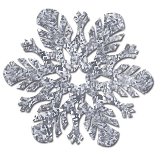 Prismatic Snowflake Cutouts (silver) Party Accessory  (1 count) (1/Pkg)