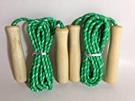 Jump Ropes for Kids (2-pack): 8-foot Green, Adjustable Jumping Rope for Boys and Girls
