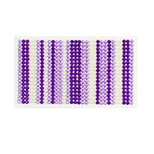 White Purple Plastic Rhinestones Phone Back Case Decorating Sticker