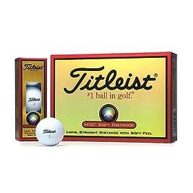 【クリックで詳細表示】TITLEIST(タイトリスト) HVC SOFT DISTANCE ゴルフボール 12個 2ピース 飛距離&ソフトボール 1HVSD-J ホワイト