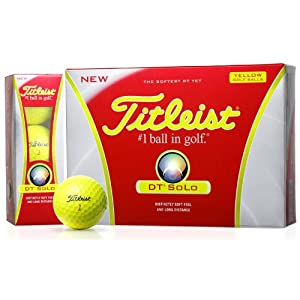 Titleist DT SoLo Personalized Golf Balls (Yellow) by Titleist