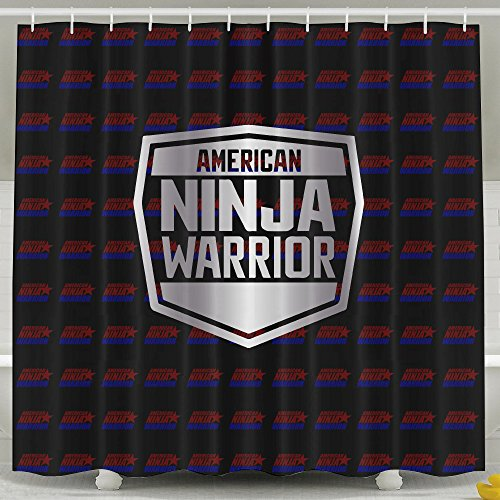 ASJDO Shower Curtains American Ninja Warrior (2) Platinum Logo (Kiss Double Platinum Japan compare prices)