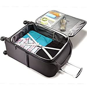 Organizational pockets and compression straps inside the main compartment