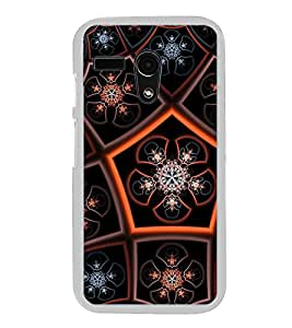 ifasho Animated Pattern design colorful flower in royal style Back Case Cover for Moto G