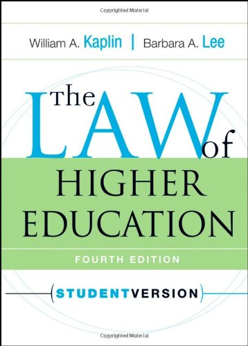 The Law of Higher Education, 4th Edition