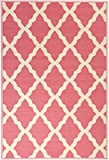 """Glamour Collection Pink Contemporary Moroccan Trellis Design Kids Rug (3'3""""x5'0"""") Machine-Washable Non-Slip Kitchen and Bathroom Mat Rug by Ottomanson"""
