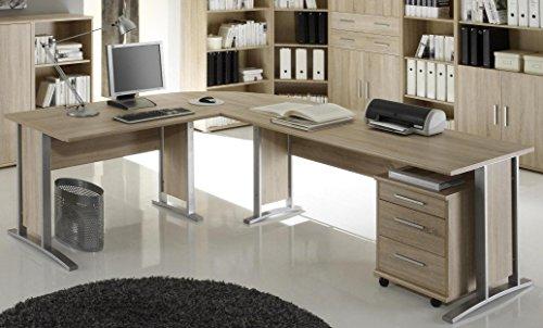 Brotisch-Office-Line-Winkelkombination-Eckschreibtisch-Eiche-Sonoma