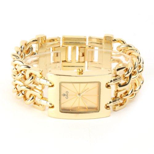 Yesurprise New Fashion Luxury Stainless Steel quartz women's watch for Birthday Gift #4