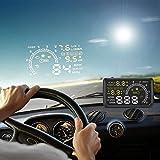 RioRand W02ヘッドアップディスプレイ OBD2連動 取り付け簡単 スピードメーター 投影