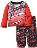 Komar Kids Baby Boys' Cars Poly 2 Piece Pajama Set, Red, 18 Months