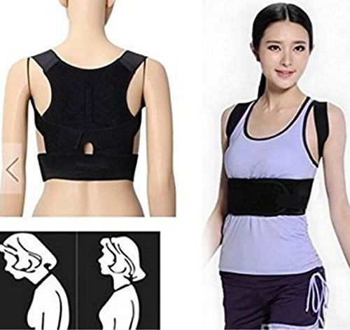 Support Belt Lumbar Shoulder Posture Spine Correction Straighten Brace by MarbellStore (Roomba Eyes compare prices)