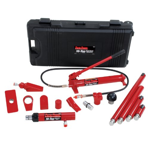 Porto-Power B65115 Black/Red Hydraulic Body Repair 19 Piece Kit - 10 Ton Capacity (Porta Power Hydraulic compare prices)
