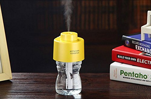 Acoustic Audio Tek¨Portable Bottle Cap Air Humidifier with bottle for office home travel--Yellow - 1