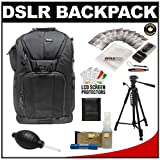 Vivitar Series One Digital SLR Camera/Laptop Sling Backpack - Small (Black) Holds Most 14'