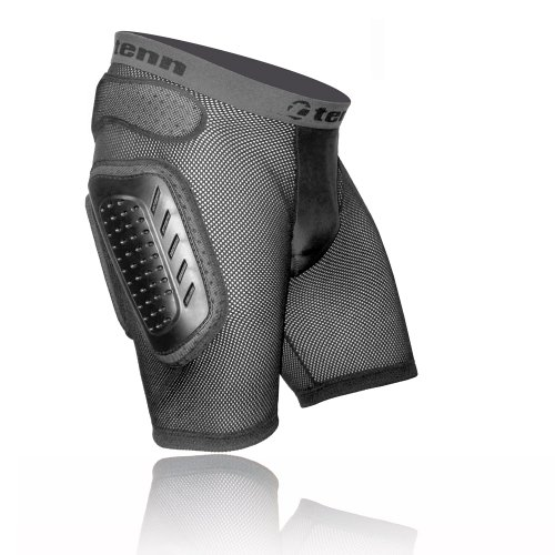 Buy Low Price Tenn MX/DH/BMX Padded Hip Protector Body Armour Shorts Black (B006GQTC10)
