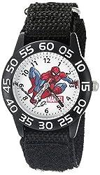Marvel Spider-Man Kids W002595 Spider-Man Analog Display Analog Quartz Black Watch