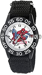 Marvel Spider-Man Kids' W002595 Spider-Man Analog Display Analog Quartz Black Watch