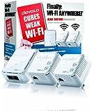 Devolo dLAN 500 Wi-Fi Powerline Network Kit, Boost your Wi-Fi signal (500 Mbps, 3 Plugs, 1 LAN Port, Small Mini Design, Wi-Fi Extender Kit,Wi-Fi Booster, Wi-Fi Extender, Adapter, Wi-Fi Move) - White